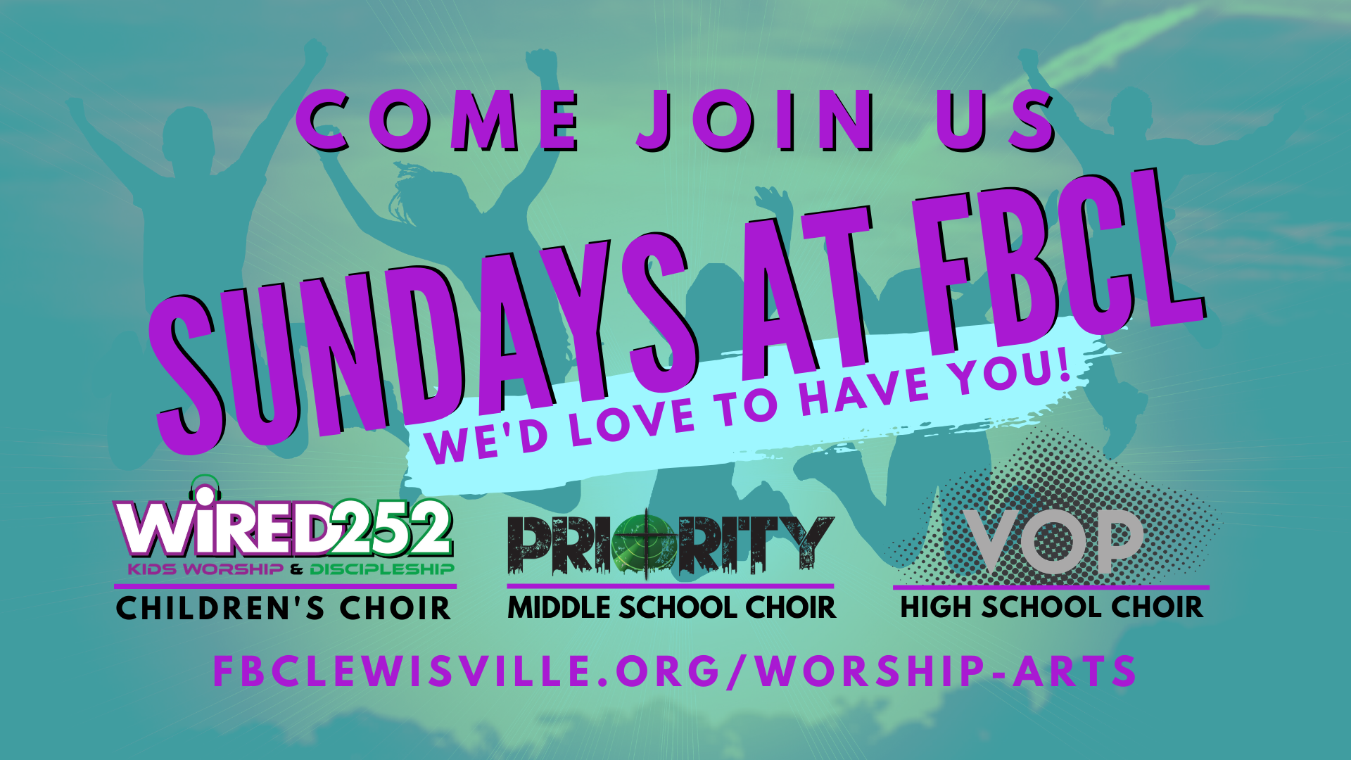 Choir Ads SUndays at FBCL