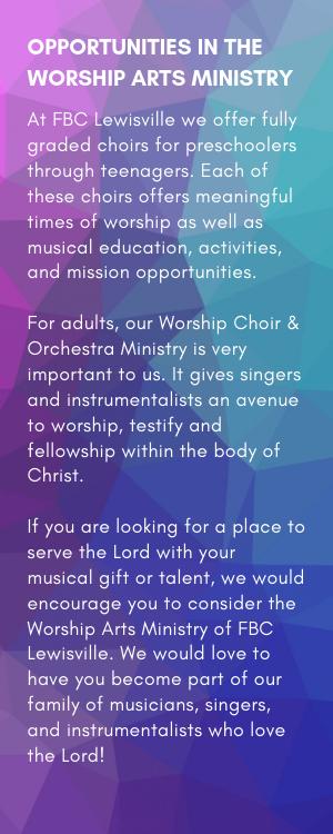 WORSHIP ARTS INFO